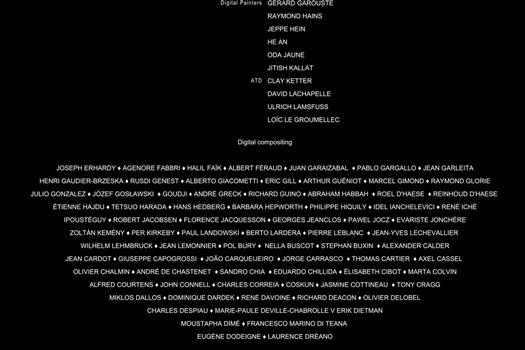 The End, 2015, vidéo N&B projetée sur fond noir, muet. Exposition collective : Les Bords Perdus, Isdat, Toulouse.  Commissariat : Yoann Gourmel