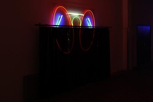 """Welcom to """"The Desert of the Real"""" / Bienvenue dans le """"Désert du Réel""""                                                                                              2018-2019, série d'assemblages d'anciennes enseignes, dimensions variables. partenariat : ATOMIC NEON.  Exposition SHO-OTER, Rémi Groussin et Pauline Brun, La station Artist-Run-Space, Nice."""